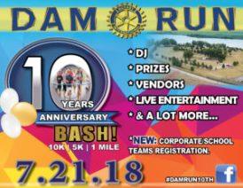 2018 Dam Run 10th Anniversary