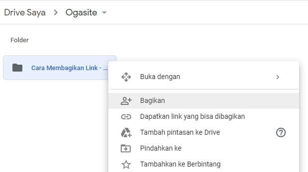 Membagikan Link Google Drive Ke Orang Lain Ogasite