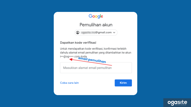 Reset Password Gmail dengan Email