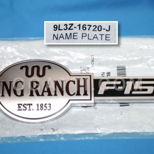 """F-150 KING RANCH"" BRAND NEW OEM EMBLEM FOR FENDER F-150 2009-2012 9L3Z-16720-J"