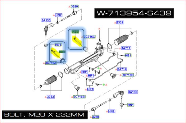 Brand New OEM BOLT W713954-S439 |W713954|
