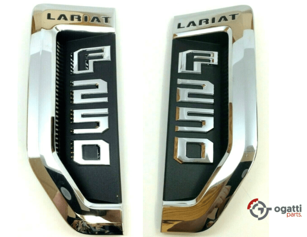 Brand New OEM NAME PLATE F-250 LARIAT 2018 KIT RH-LH (OG-F250-2017-3)