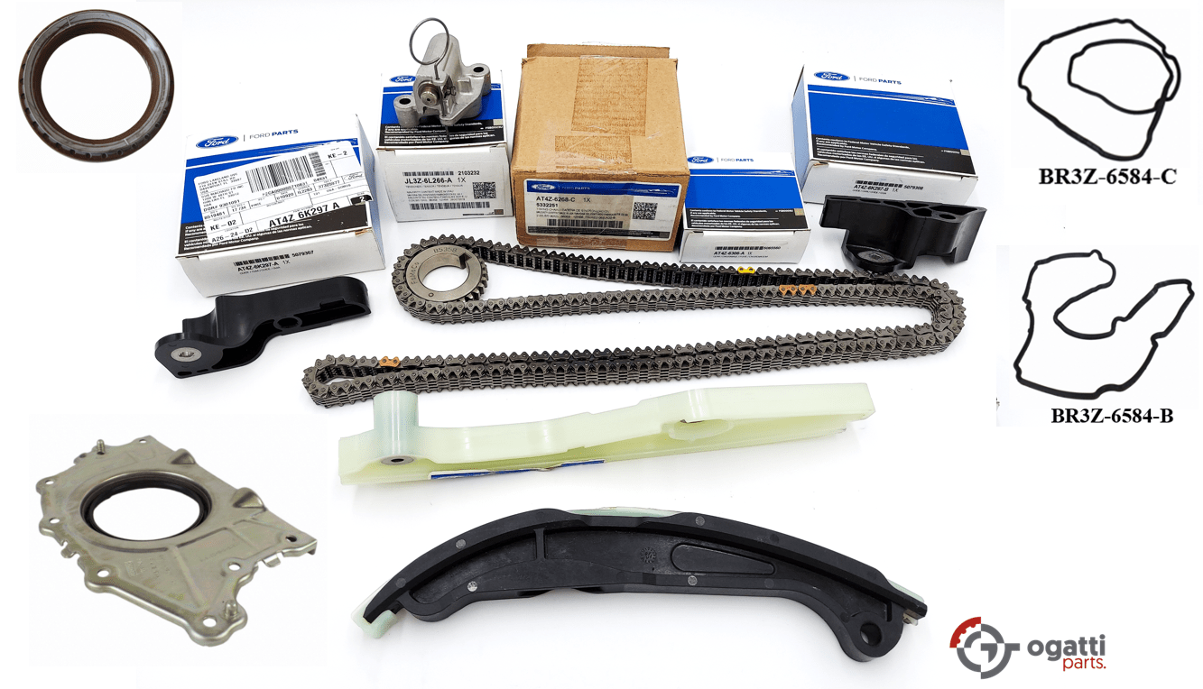 Brand New OEM Timing Chain Kit 3.5L DOHC VCT, 11 Pieces, Engine Repair Kit (OG-60-3.5L-11-1)
