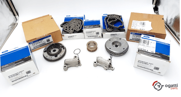 Brand New OEM Timing Chain And Tensioner, Gear Kit 3.5L DOHC TURBO, 7 Pieces, Engine Repair Kit (OG-60-3.5LT-7-2)