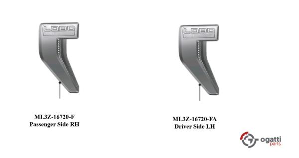 Brand New OEM NAME PLATE F-150 LOBO XLT Version 2021 KIT RH-LH (OG-F150-2020-2-10)