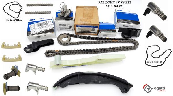 Brand New OEM Timing Chain Kit 3.7L DOHC 4V V6 EFI 2010-2016, 19 Pieces, Engine Repair Kit (OG-60-3.7L-19-2)