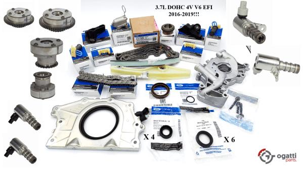 Brand New OEM Timing Chain Kit 3.7L DOHC 4V V6 EFI 2016-2019, 35 Pieces, Engine Repair Kit (OG-60-3.7L-35-2)