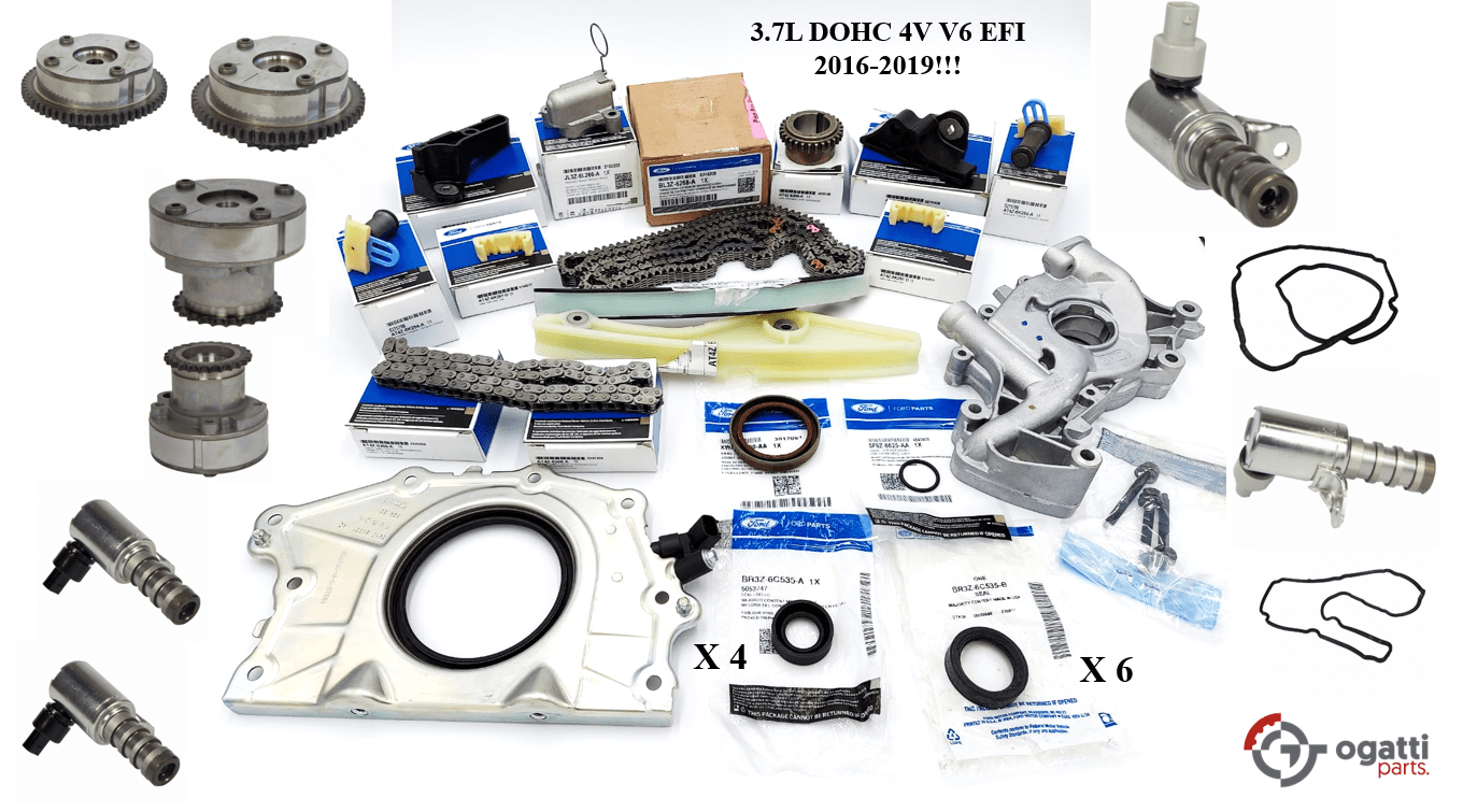 Brand New OEM Timing Chain Kit 3.7L DOHC 4V V6 EFI 2016-2019, 37 Pieces, Engine Repair Kit (OG-60-3.7L-37-2)