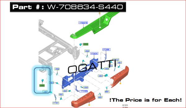 Brand New OEM NUT – HEX. – FLANGED W708634-S440 |W708634|