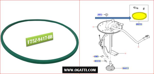 Brand New OEM GASKET F75Z-9417-BB |9417|