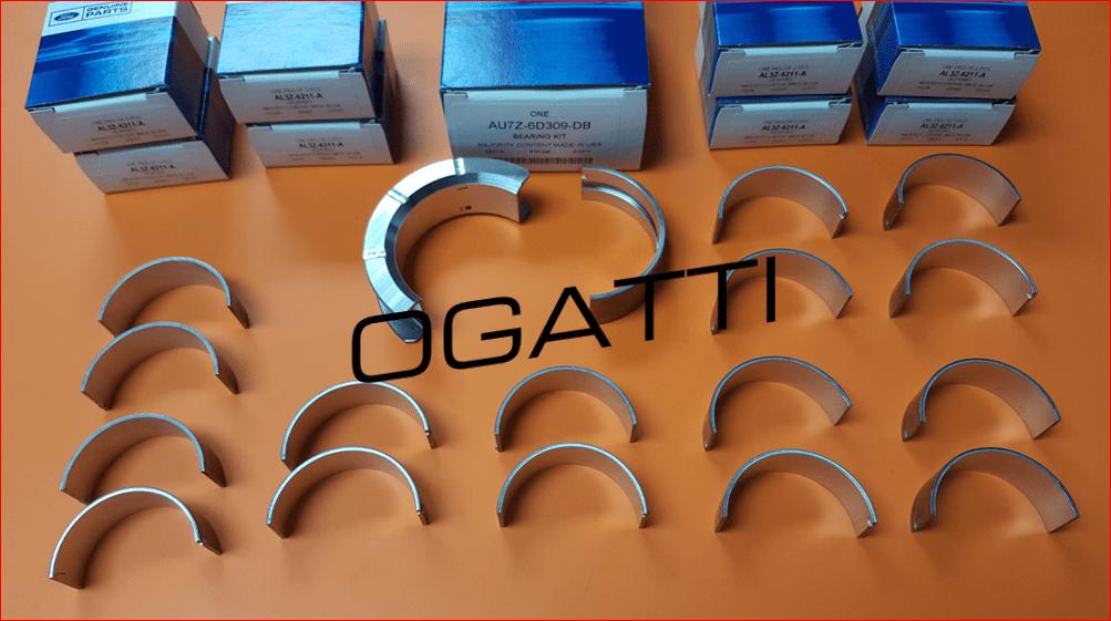 Brand New OEM Main Bearing Crankshaft STD Grade 1 6.2L V8 2V DOHC, 10 Pieces, Engine Repair Kit (OG-60-6.2L-10-1)