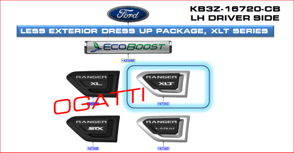 Brand New OEM DECAL – STRIPE KB3Z-16720-CB |16720|