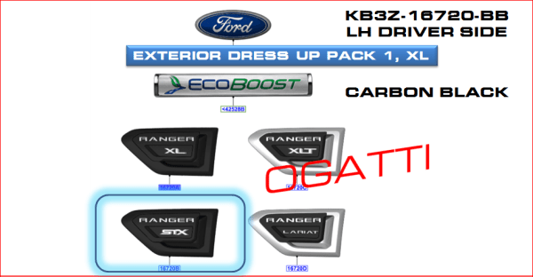 Brand New OEM DECAL – STRIPE KB3Z-16720-BB |16720|