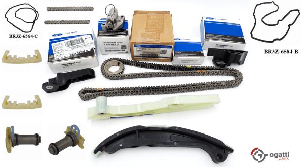 Brand New OEM Timing Chain Kit 3.7L DOHC 4V V6 EFI 2010-2016, 15 Pieces, Engine Repair Kit (OG-60-3.7L-15-1)