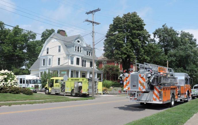 Electrical fire in Barnesville