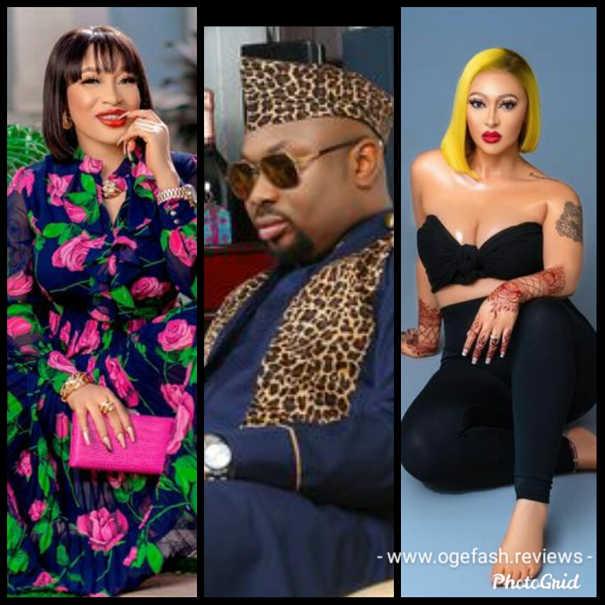 Tonto Dike stylishly replies the new Mr. and Mrs. Churchill; Rosy Meurer and Olakunle Churchill