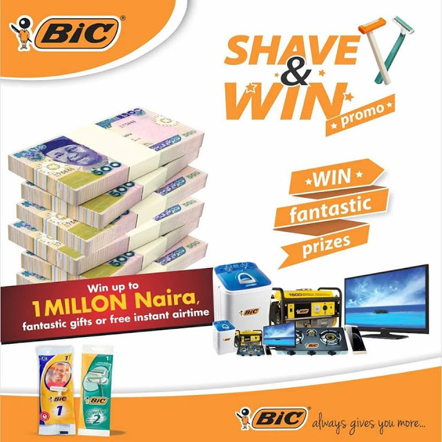 SHAVE AND WIN UP TO 1 MILLION NAIRA WITH #BIC