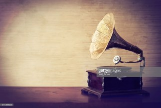 Vintage style shot of a gramophone