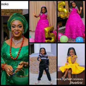 SOLA KOSOKO BOUGHT A 55,000 NAIRA WIG FOR HER CHILD'S 5TH BIRTHDAY