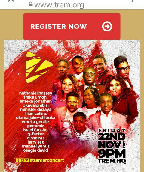 NATHANIEL BASSEY AND OTHER A~LIST MUSICIANS WOULD BE LIVE AT TREM ZAMAR 2019 MUSIC CONCERT; DON'T, DON'T MIRRIT (MISS IT)