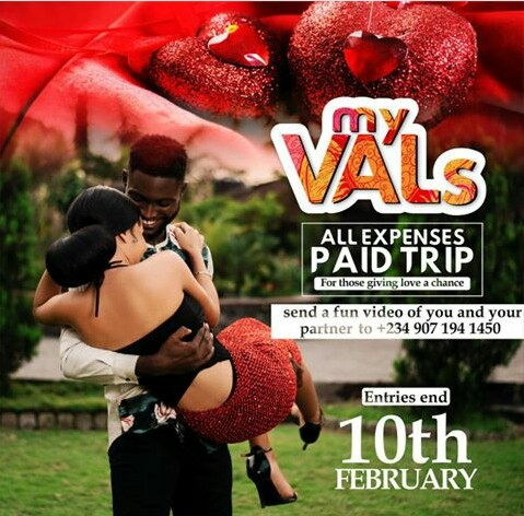 TIME TO WIN ALL EXPENSES PAID TRIP THIS VALENTINE IN TACHA'S VALENTINE COUPLE TRIP