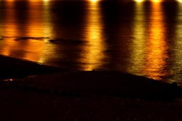 verlichte zee