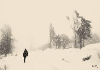 2. Sepia sketch - walk