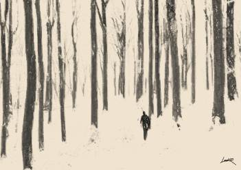 4. Sepia sketch - forest