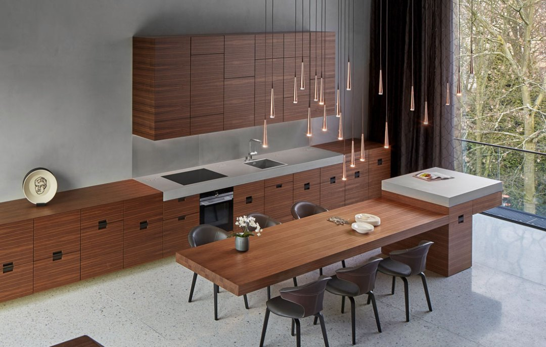 Betonmöbel OGGI-Beton: Küchenarbeitsplatte