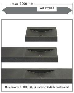 OGGI-Beton: Betonwaschtisch, Muldenform TORU OKADA