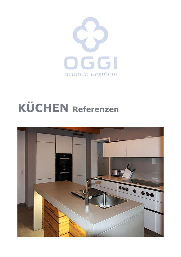 OGGI-Beton: Katalog-PDF Küchen, Referenzen