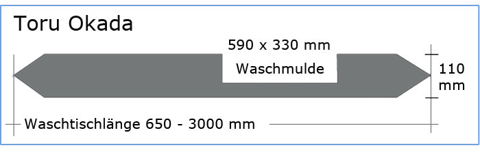 OGGI-Beton: Betonwaschtisch TORU OKADA