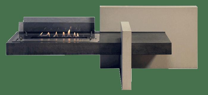 OGGI-Beton: Wohnen mit Betonmöbeln – Bioethanol-Kamin
