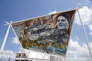 Il murale dedicato a Giuseppe Di Vittorio