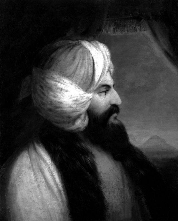 Ritratto di Giovanni Belzoni di William Brockedon conservato alla National Portrait Gallery, Londra