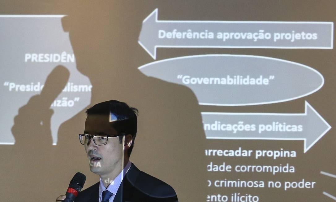Durante os seis anos à frente da Lava-Jato, Dallagnol foi responsável por casos de visibilidade, como a denúncia contra o ex-presidente Lula. Foto: Geraldo Bubniak / Agência O Globo