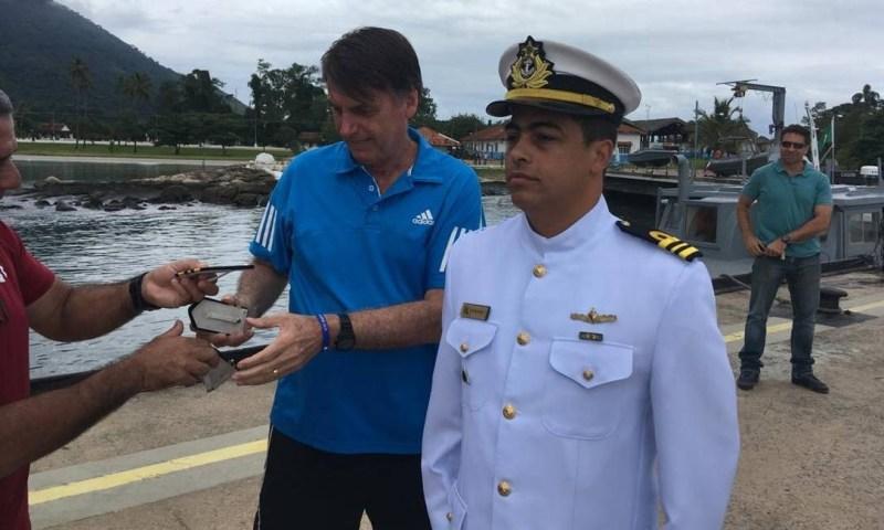 Bolsonaro participa de promoção de militar Foto: Divulgação