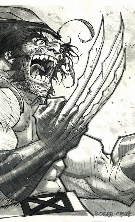 "ROGER CRUZ (São Paulo, 47 years old).  After years among Marvel heroes such as Wolverine (above), he plays personal projects like ""Quaisqualigundum"", Adoniran Barbosa's award-winning comic bio.  Photo: Roger Cruz / Reproduction"