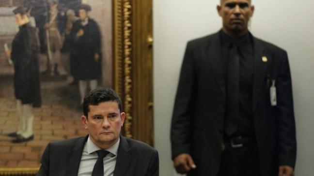 Ministro da Justiça, Sergio Moro, em sabatina com parlamentares sobre o pacote anti-corrupção Foto: Jorge William / Agência O Globo