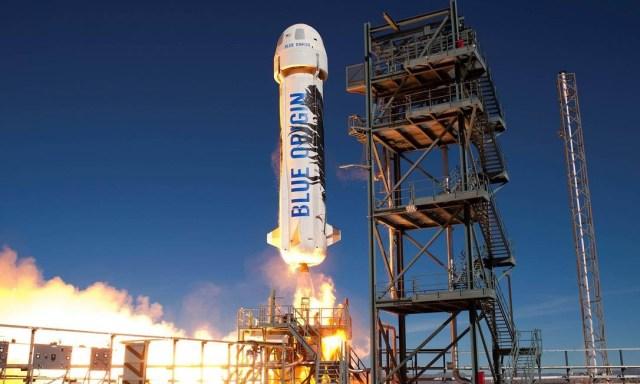 A Blue Origin está desenvolvendo foguetes de lançamento que podem ser reutilizados Foto: Blue Origin