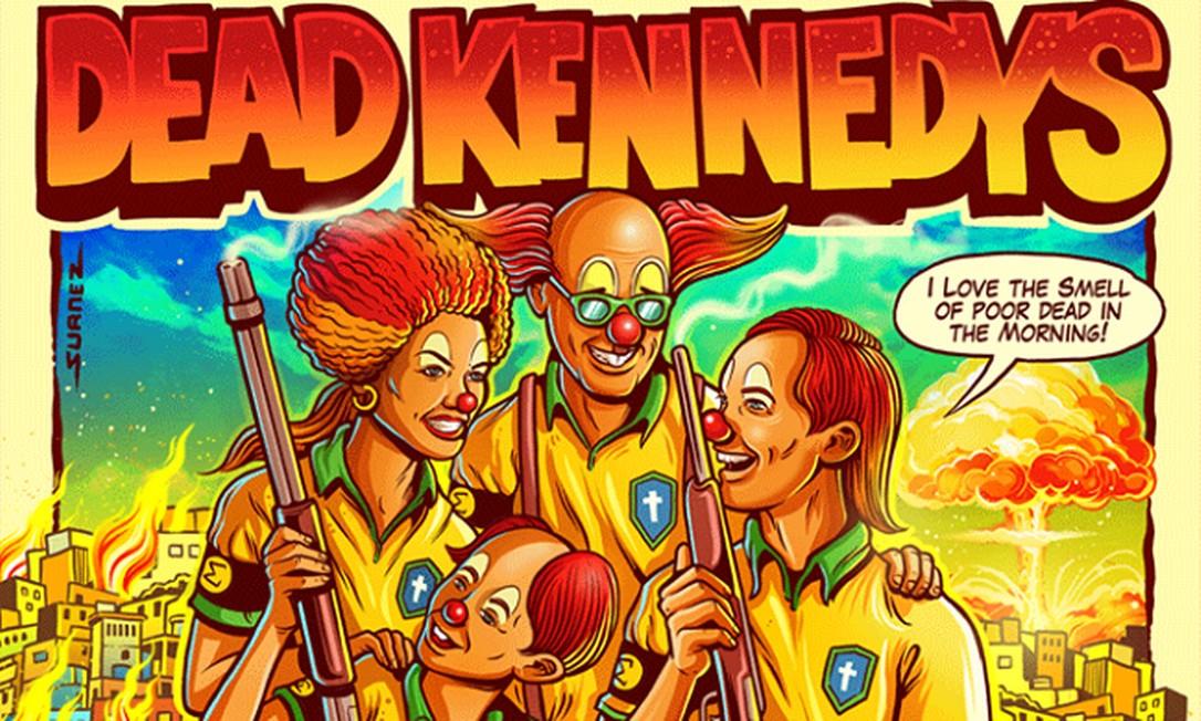 Dead Kennedys cancela shows no Brasil após polêmica com pôster