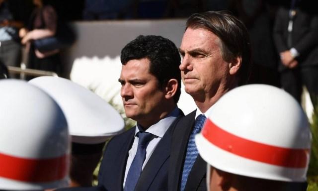 Presidente Jair Bolsonaro e ministro Sergio Moro Foto: EVARISTO SA / AFP