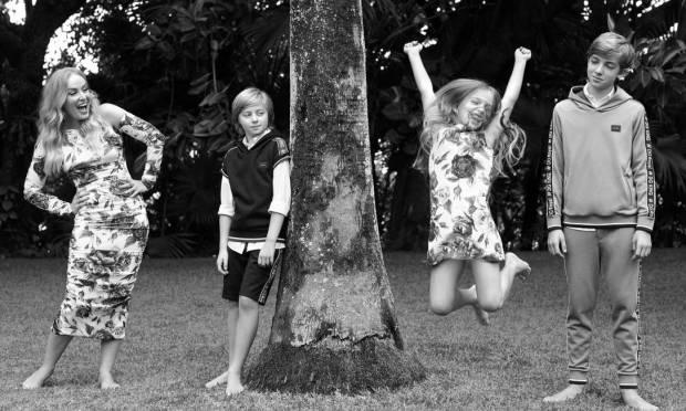 """Joaquim and Benício are shy, just like Luciano and I were when we were little,""said Angélica Photo: Bob Wolfenson"