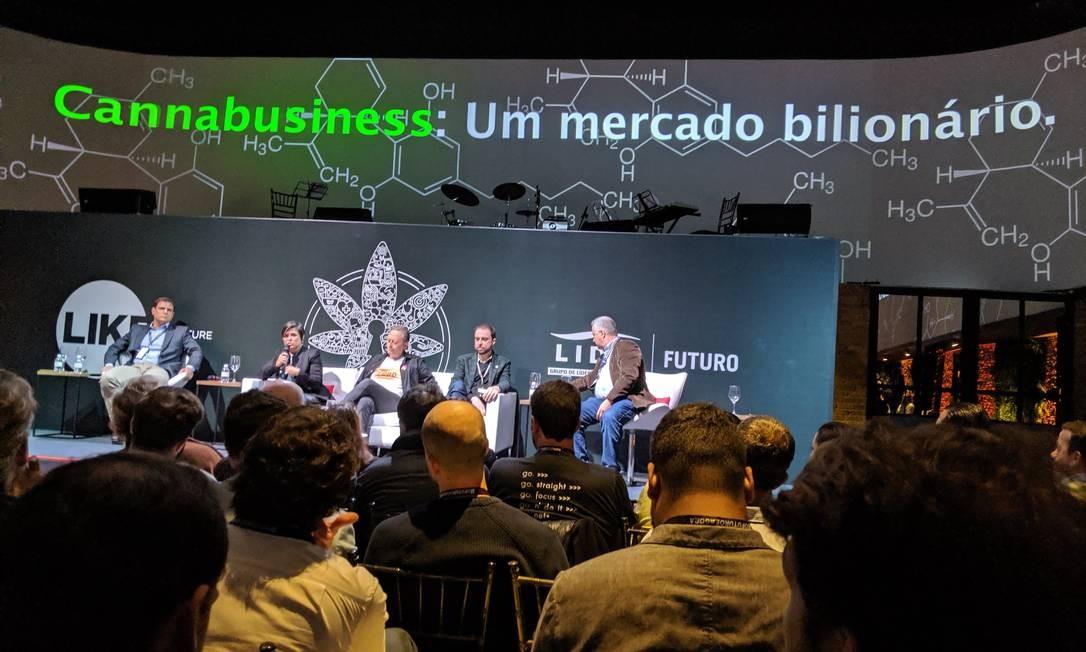 Edição do evento 'Like The Future' sobre o tema 'Cannabusiness: um mercado bilionário' Foto: Denis R. Burgierman / Agência O Globo
