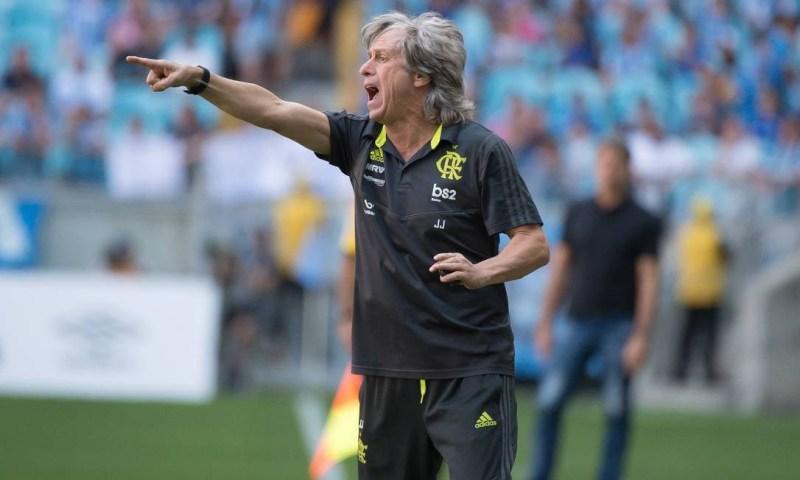 O técnico do Flamengo, Jorge Jesus Foto: Alexandre Vidal/Flamengo