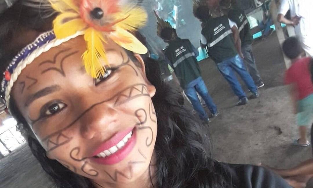 A indígena Suzane da Silva Pereira, agente de saúde infectada pelo coronavírus em Santo Antônio do Içá, no Amazonas Foto: Arquivo Pessoal