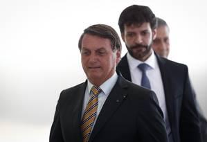 Presidente Jair Bolsonaro e Marcelo Álvaro Antônio, que foi demitido do Ministério do Turismo nesta quarta-feira. Foto: Pablo Jacob / Agência O Globo
