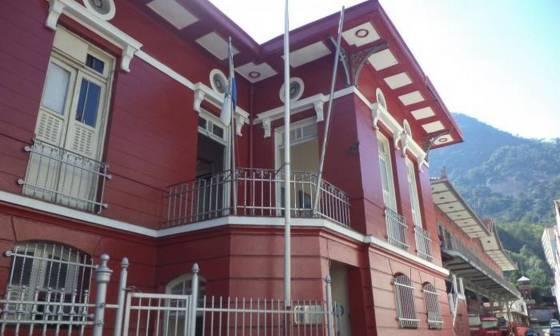 Primeiro Grupo de Bombeiros Militares, em Humaitá.  O prédio histórico é um dos postos de vacinação da Zona Sul do Rio. Foto: Denis Gahyva / Wikimapia