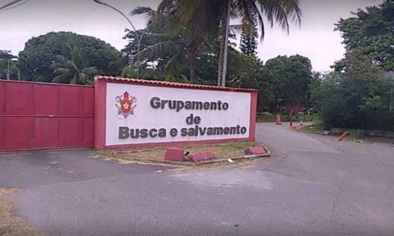 Grupo de Busca e Resgate do Corpo de Bombeiros, na Avenida Ayrton Senna, 2001, na Barra da Tijuca, Zona Oeste do Rio, é uma das unidades militares do estado do Rio utilizadas na campanha de vacinação contra Covid-19 Foto: Reprodução / Internet