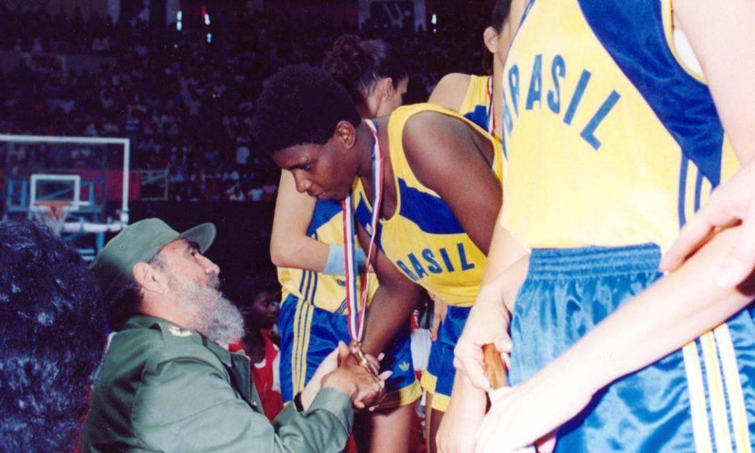 A ex-pivô Ruth de Souza, campeã ddo Pan de Havana (1991) com a seleção brasileira de basquete, morreu aos 52 anos, em abril de 2021 Foto: Confederação Brasileira de Basquete